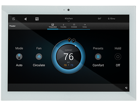 control4 touchpanel climate